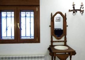 Mobiliario rústico y calefacción