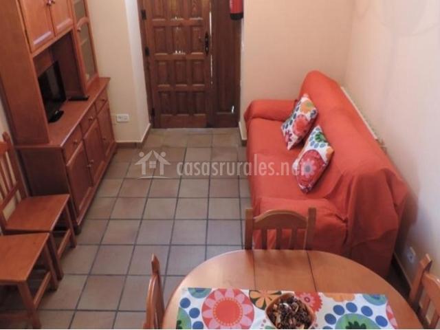Sala De Estar Naranja ~ sala de estar equipada sala de estar y comedor con