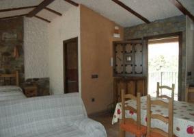 Sala de estar comedor y dormitorio