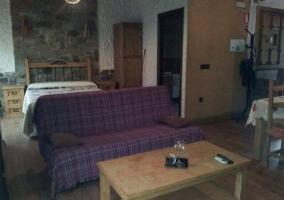 Sala de estar y dormitorio