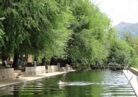 Zona de las piscinas naturales