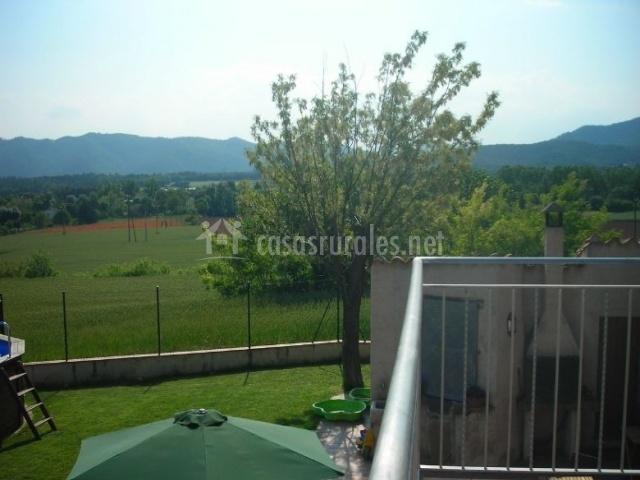 Vistas de los exteriores desde la terraza