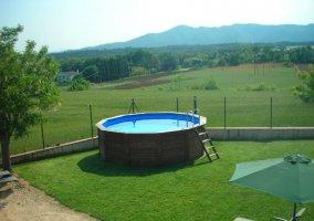 Vistas de nuestra piscina redonda