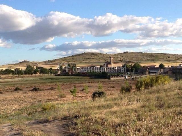 Zona de paisajes de la campiña segoviana