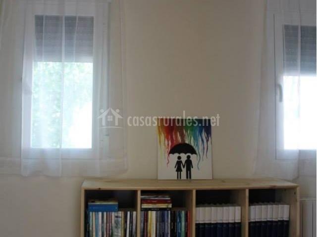 Sala con colección de libros