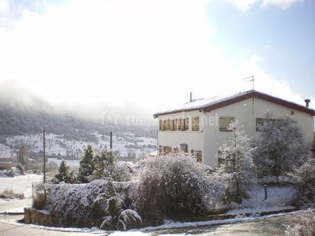 Vistas de la casa en invierno