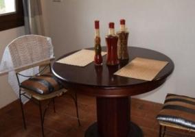 Comedor junto a la cocina de la casa