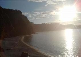 Zona de playas al amanecer