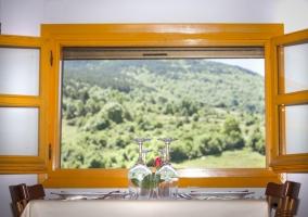 Restaurante y ventana