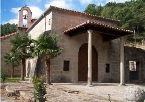 Zona de la iglesia en el pueblo