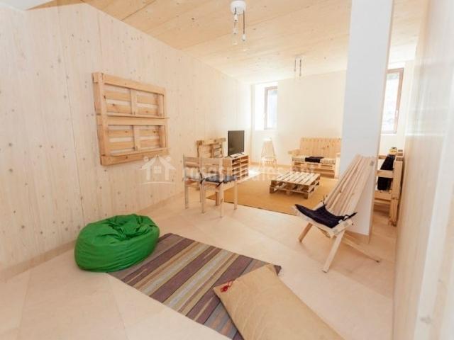 Passiv etxea 1 en olza navarra for Sala de estar madera