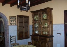 Mueble en la cocina de madera