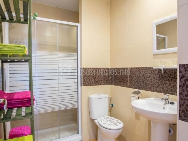 Aseo del apartamento con ducha y su mampara