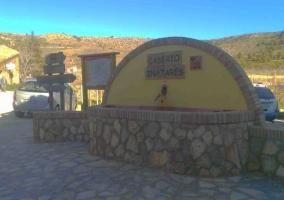 Vistas de la entrada con fuente