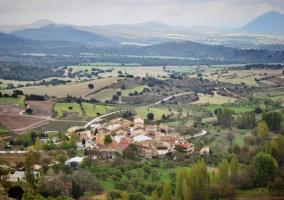 Zona centro del pueblo vista desde el mirador