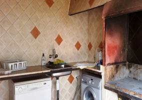 Cocina con barbacoa