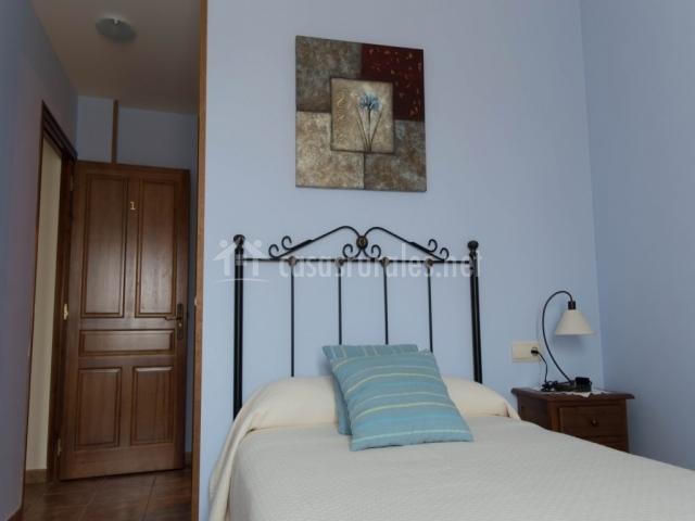 Winter individual con paredes azules