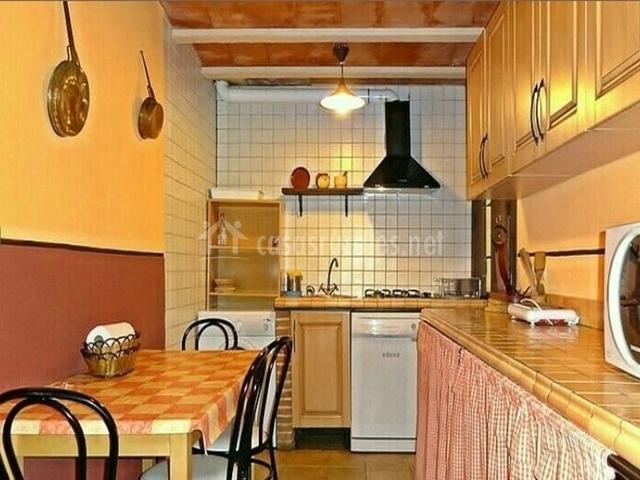 Cocina de la casa rural extremeña