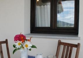 Acceso a la terraza con desayuno