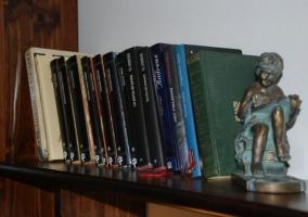 Sala de estar con libros para leer