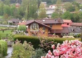 Vistas del centro del pueblo desde el alojamiento