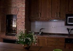 Cocina de la casa con horno tradicional