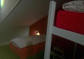 Habitación individual de 3 camas