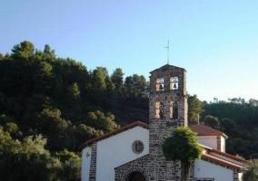 Zona de la iglesia vista de frente