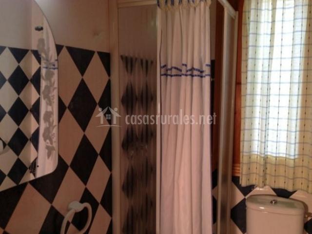 Aseo de la casa con su ducha y azulejos