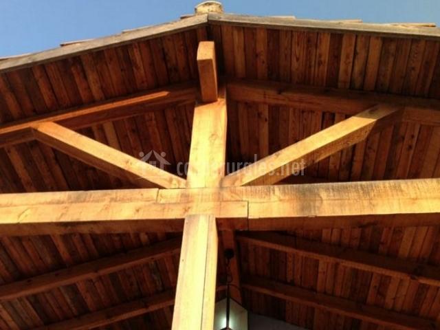 Vistas del porche y su techo