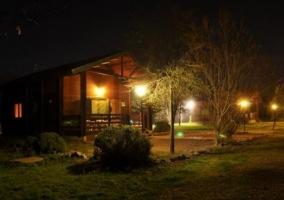 Vistas de las viviendas de noche