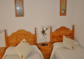 Dormitorio doble con camas individuales