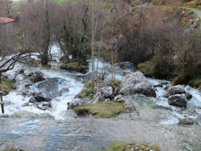Zona natural con cascadas y riachuelos