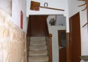 Entrada con escaleras