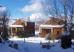 Cabañas con nieve