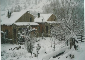 Nieve en las cabañas