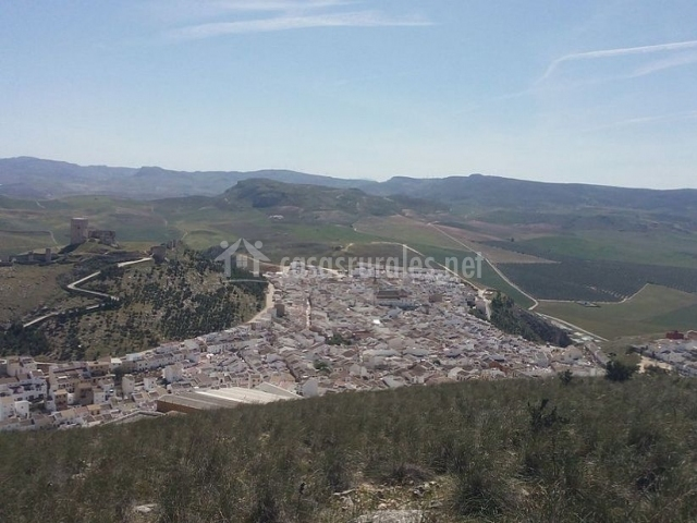 Zona de Teba y su casco urbano