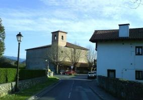 Zona de la iglesia y paisaje