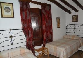 Habitación con camas dobles