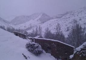 zona de montaña nevada
