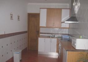 Cocina con armario