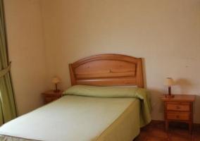 Dormitorio doble de matrimonio en verde