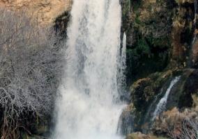 Zona de cascadas natural