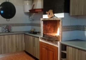 Cocina campera con horno