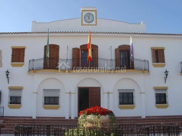 Zona centro con el Ayuntamiento