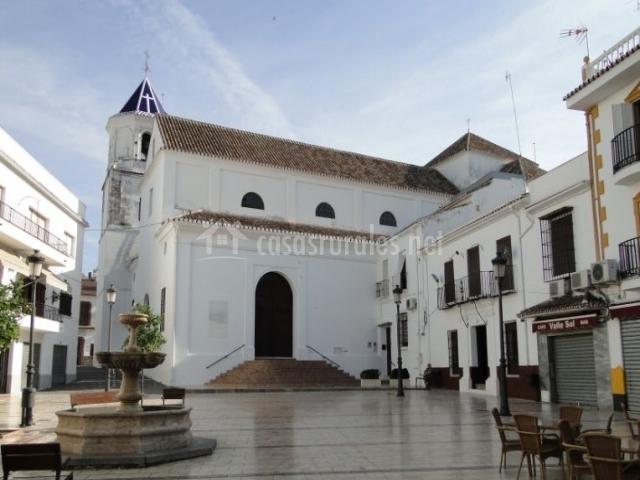 Zona centro con la iglesia