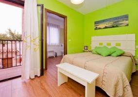Dormitorio pistacho de matrimonio
