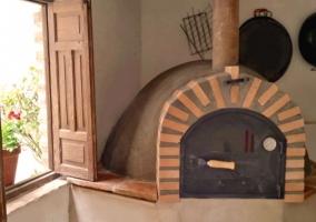 Vistas de la zona de horno tradicional