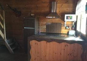 Sala de estar y mesa camilla
