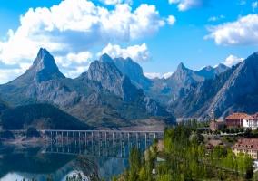 vista paisaje de montaña